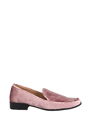 Pink Animal Embossed Loafers by Veruschka By Payal Kothari Men