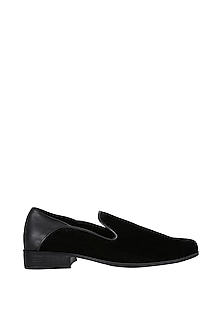 Black Napa Counter Loafers by Veruschka By Payal Kothari Men