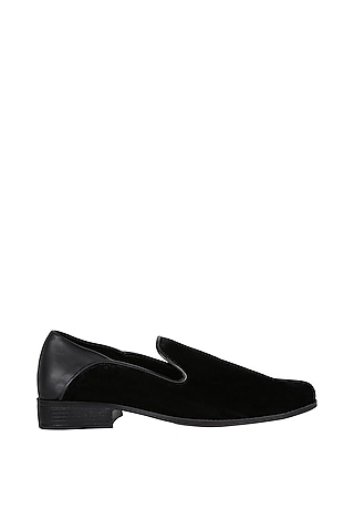 Black Napa Counter Loafers by Veruschka By Payal Kothari Men
