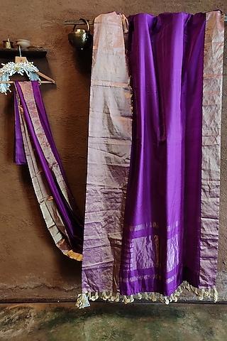Purple Silk Saree by Vaishali S
