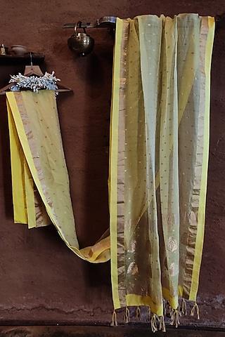 Yellow Silk Saree by Vaishali S