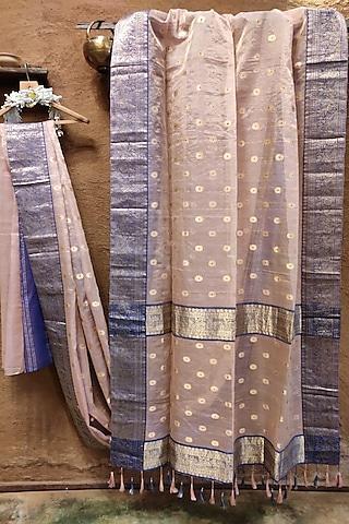 Powder Pink Silk Saree by Vaishali S