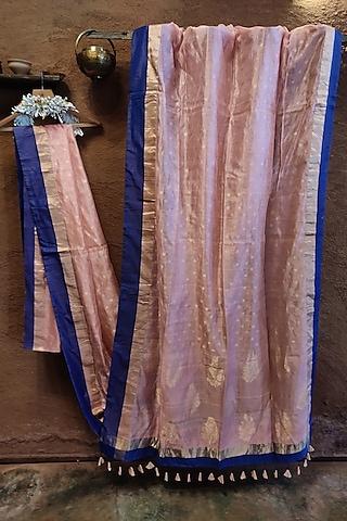 Pink Silk Saree by Vaishali S