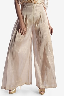Off White Pants With Cords Detailing by Vaishali S