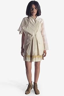 Off White Handwoven Jacket by Vaishali S