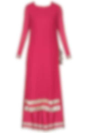 Pink Embroidered Kurta Set by Vasavi Shah