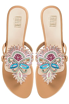 Multi Coloured Embroidered Platform Sandals by Veruschka By Payal Kothari