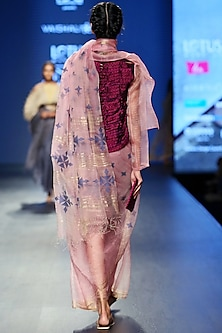 Baby Pink Sheer Coat by Vaishali S