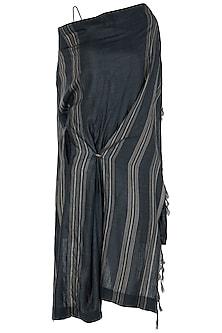 Black and Grey Midi Dress by Vaishali S