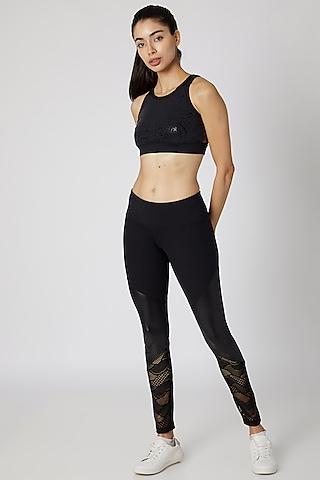 Black Lace Leggings by Mira Rae
