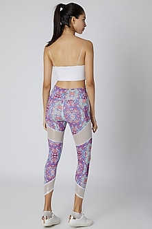 Multi Colored Mesh Capris by Mira Rae