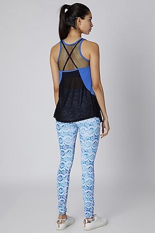 Cobalt Blue Polyester Tank Top by Mira Rae