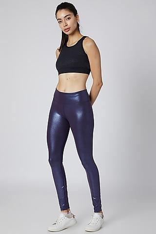 Purple Sheen Leggings by Mira Rae
