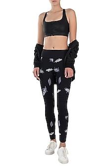 Black zipper sports bra by Mira rae