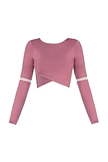 Pink mesh crop top by Mira rae