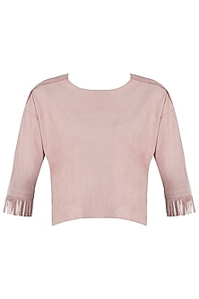Pink fringes top by Mira rae