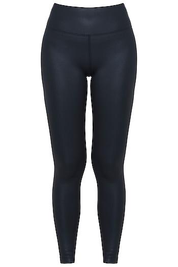 Black sheen leggings by Mira rae