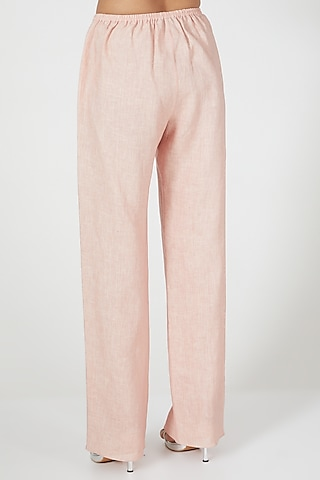 Pink Wide Legged Pants by Wendell Rodricks
