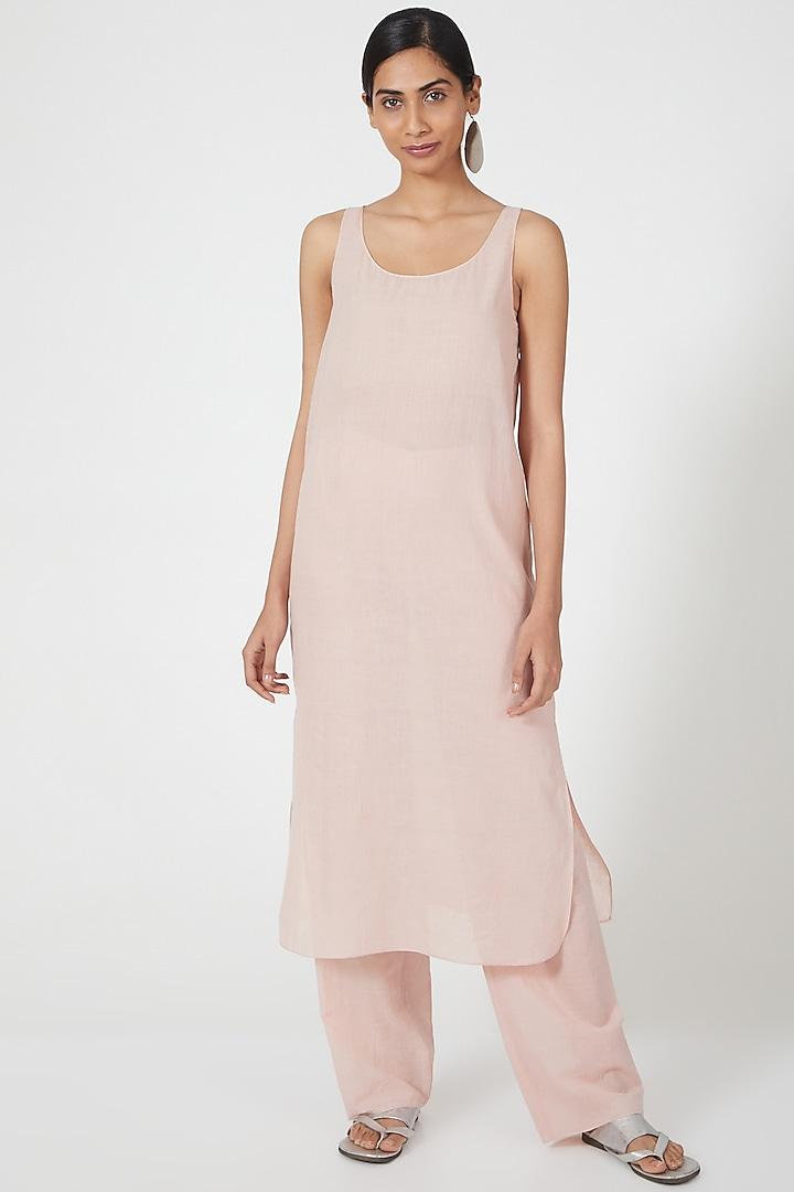 Pink Straight Cut Dress by Wendell Rodricks