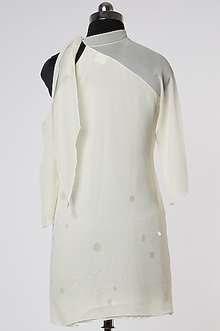 White Draped Top by Wendell Rodricks
