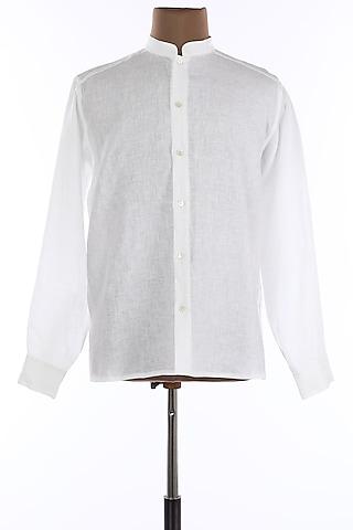 White Collared Shirt by Wendell Rodricks Men