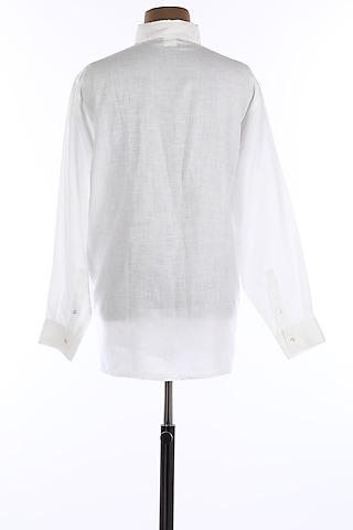 White Collar Shirt by Wendell Rodricks Men