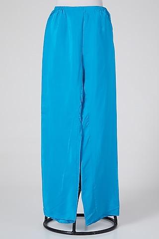 Sky Blue Linen Pants by Wendell Rodricks