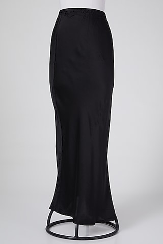 Black Cotton Skirt by Wendell Rodricks
