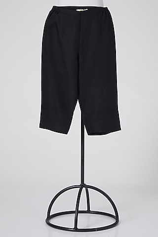 Black Cotton Shorts by Wendell Rodricks