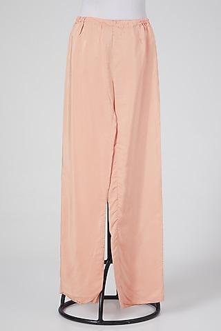 Peach Linen Pants by Wendell Rodricks