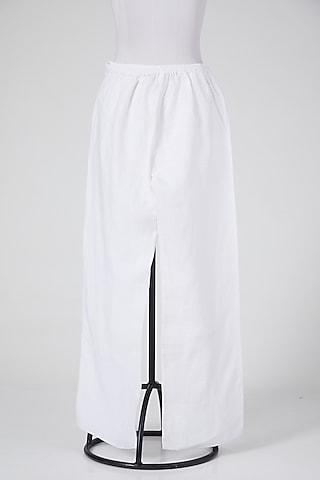 White Pants In Linen by Wendell Rodricks