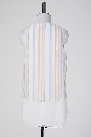 White Cotton Tunic by Wendell Rodricks