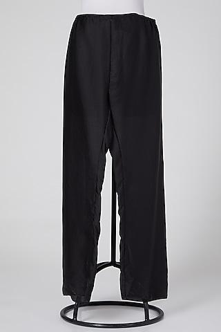 Black Linen Pants by Wendell Rodricks