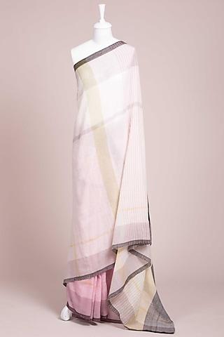 Lilac Kunbi Saree by Wendell Rodricks