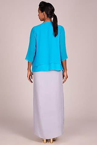 Turquoise Square Cut Overtop by Wendell Rodricks