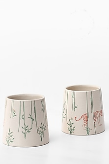 Ivory Paarwali Tumblers (Set of 2) by White Hill Studio
