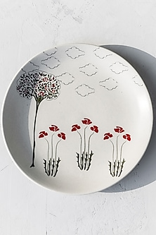 White Walter Crane Plates (Set of 6) by White Hill Studio