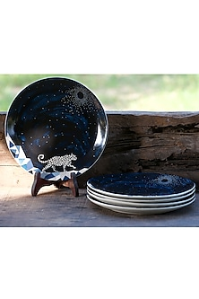 Midnight Blue Dinner Plates (Set of 6) by White Hill Studio