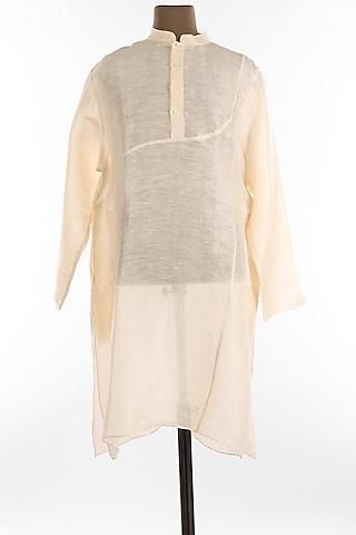 White Linen Kurta by Wendell Rodricks Men