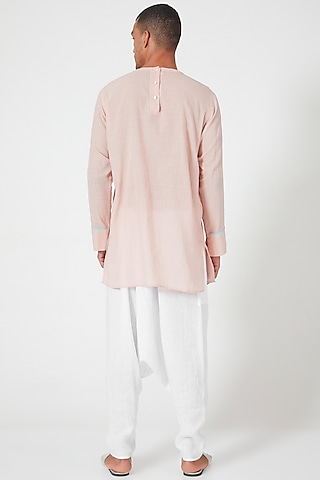 Pink Shirt With Patch Pockets by Wendell Rodricks Men