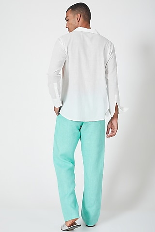 Multi Coloured Tunic Shirt With Color Blocking by Wendell Rodricks Men