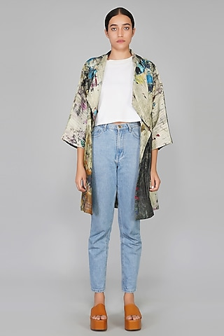 Multi Colored Printed Jacket by YAVI