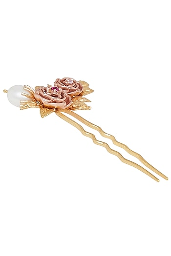 Gold Plated Pink Cz Uclip by Zariin