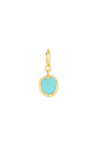 Gold Finish Turquoise Charm by Zariin