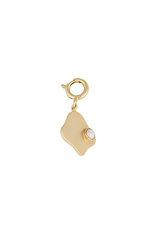 Gold Finish Pearl Charm by Zariin