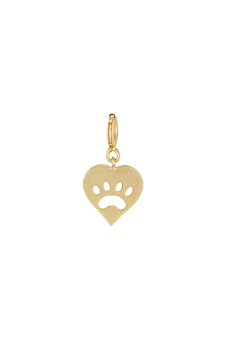 Gold Finish Dog Paw Charm by Zariin