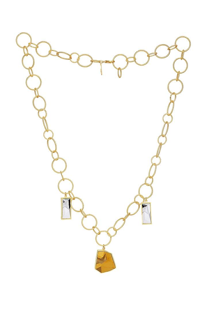 Gold Plated Dorado Necklace by Zariin