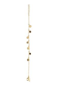 Gold Plated Smoky Topaz & Citrine Stone Bracelet by Zariin