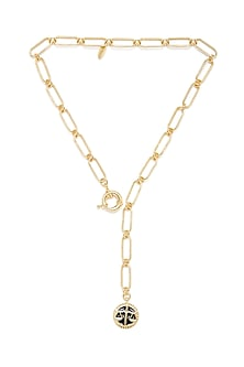 Gold Plated Libra Scale Necklace by Zariin