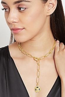 Gold Plated Virgo Virgin Necklace by Zariin